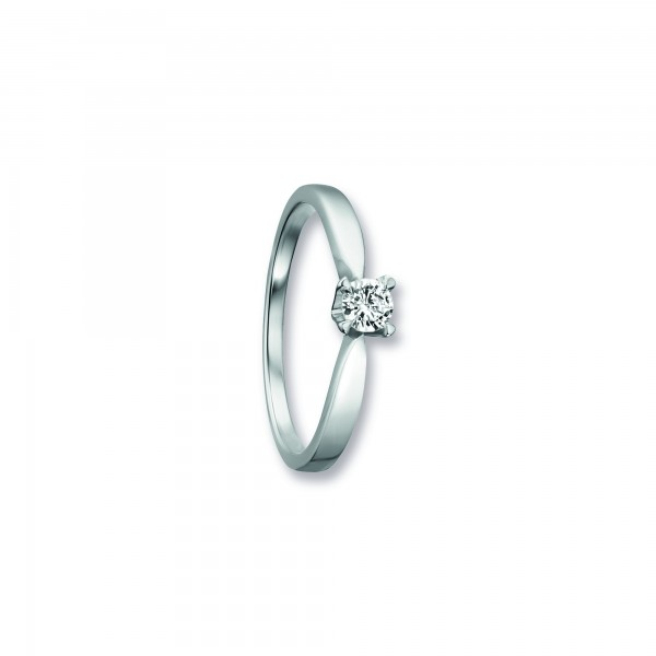 Ring Krappe Zirkonia 925 Silber rhodiniert Größe 54