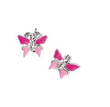 SCOUT Ohrschmuck silber, pink Schmetterlinge 262127100