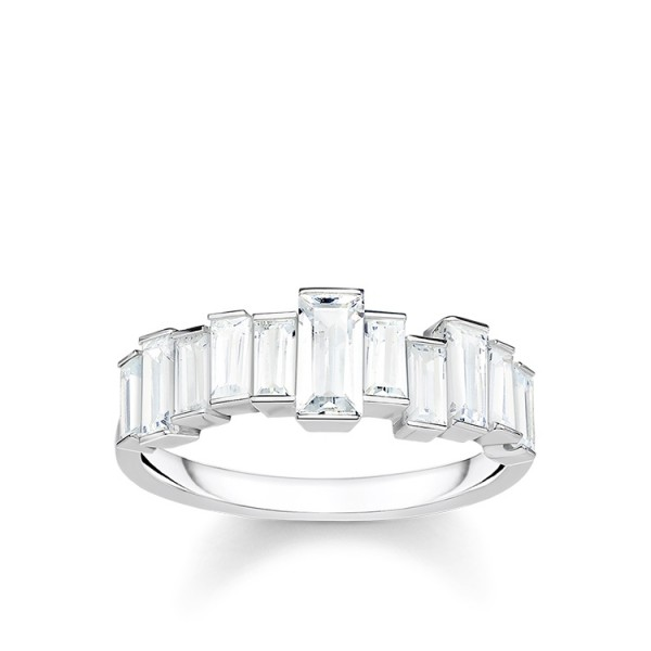 Thomas Sabo Ring weiße Steine Größe 52 TR2269-051-14-52