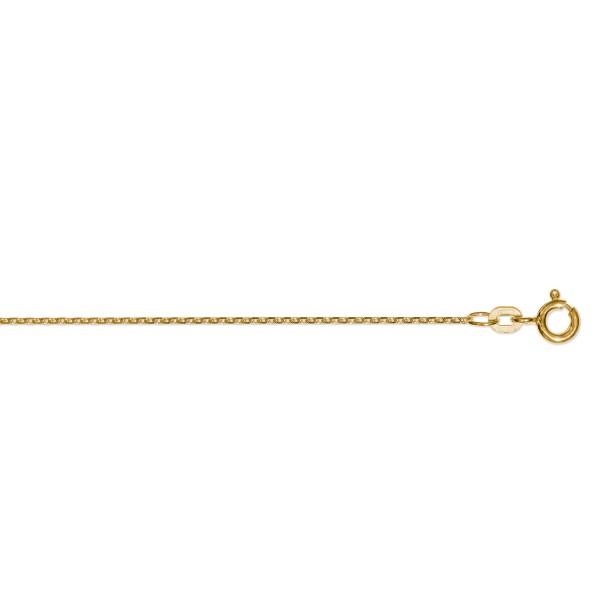 Ankerkette diamantiert 1,2 mm 585 Gelbgold 36 cm