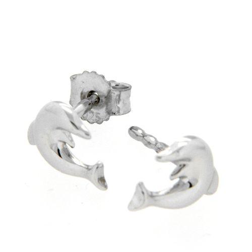Ohrstecker Silber 925 rhodiniert Delfin