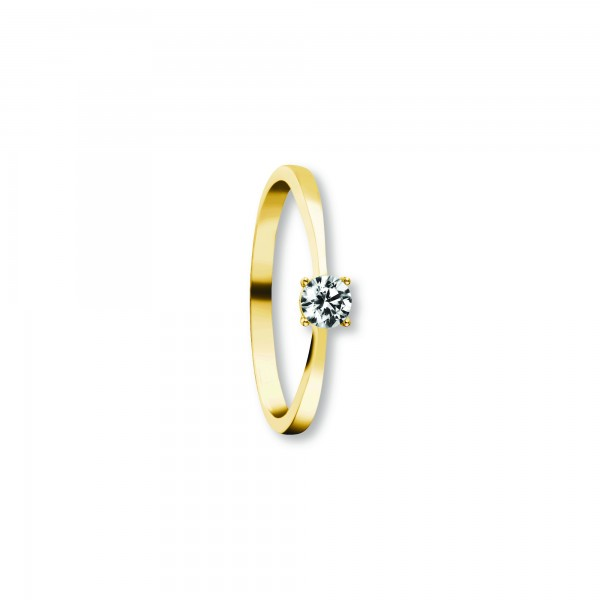 Ring Zirkonia 333 Gelbgold Größe 50