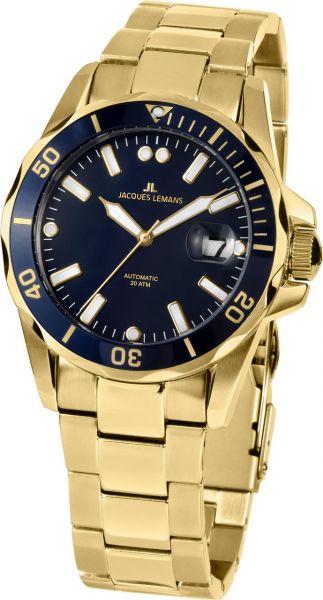 Jacques Lemans Herren-Armbanduhr Liverpool Diver Automatik 1-2089I