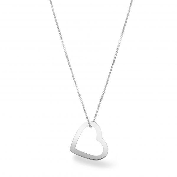 Beka&Bell Herzkette mit Gravur silber