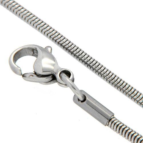 Schlangenkette 1,9mm Edelstahl 45 cm
