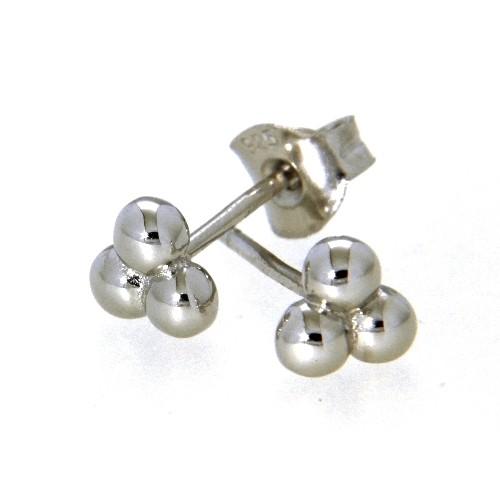 Ohrstecker Silber 925 rhodiniert Kugeln