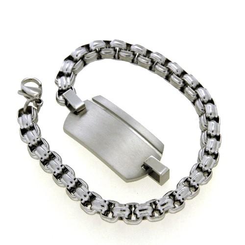 Identitäts-Armband Edelstahl 21 cm (kürzbar)