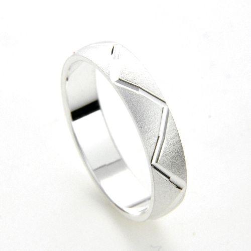 Freundschaftsring Silber 925 Breite 4 mm Weite 51