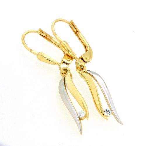 Ohrpendel Gold 333 bicolor