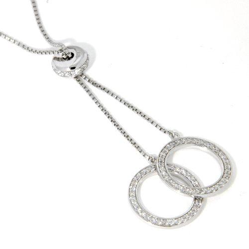 Kette Silber 925 rhodiniert 78 cm verstellbar