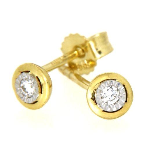 Ohrstecker Gold 585 bicolor Brillant 2x0,02ct.