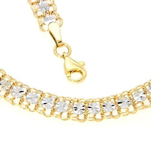 Kette Gold 333 bicolor 45 cm