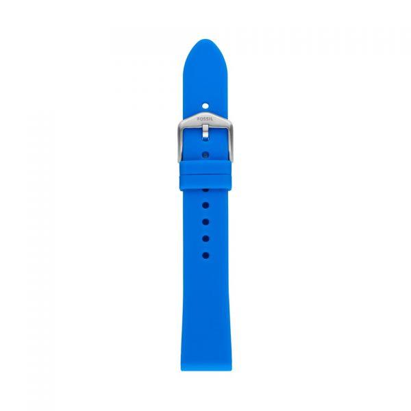 FOSSIL Uhrarmband Silikon blau S181410