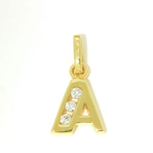 Buchstaben-Anhänger A Gold 333