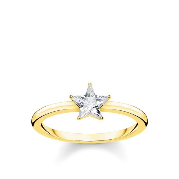 Thomas Sabo Ring Stern vergoldet Größe 48 TR2270-414-14-48