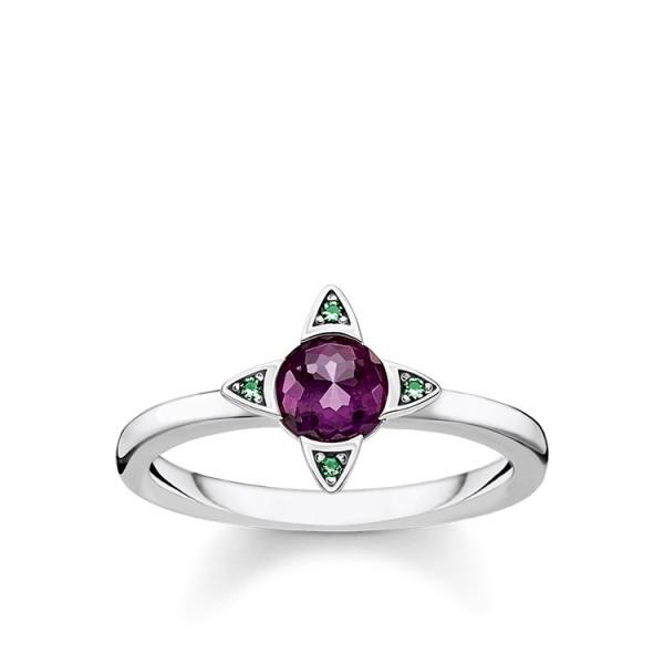 Thomas Sabo Ring farbige Steine Größe 58 TR2263-667-13-58