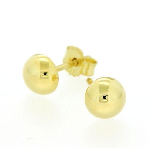 Ohrstecker Gold 333 Halbkugel 6mm