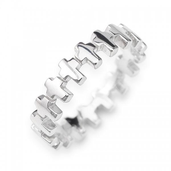 AMEN Ring Silber Kreuz Gr. 58 RCC-18