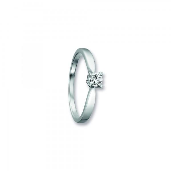 Ring Krappe Zirkonia 925 Silber rhodiniert Größe 55