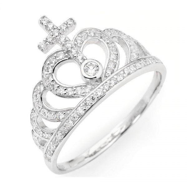 AMEN Ring Silber Kreuz Gr. 52 AC2-12