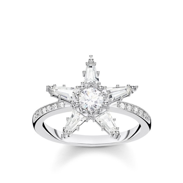 Thomas Sabo Ring Stern groß Größe 48 TR2271-051-14-48