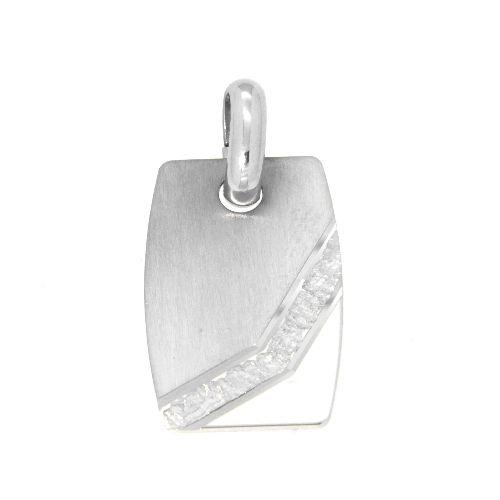 Gravurplatte, Silber 925 rhodiniert