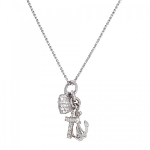 AMEN Kette 42 + 4 cm Silber FSC