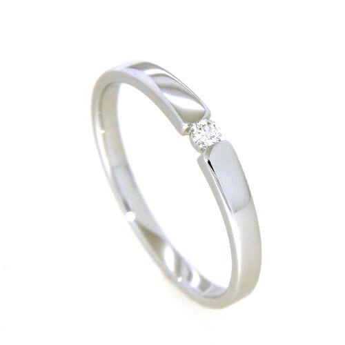 Ring Weißgold 585 Brillant 0,06 ct. Weite 54