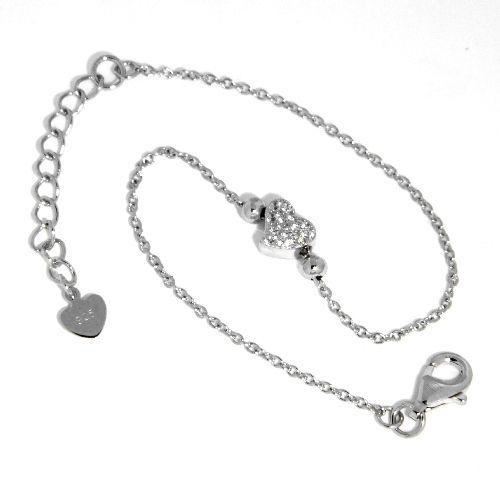 Armband Silber 925 rhodiniert 16 cm + 3 cm