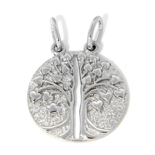 Partneranhänger Silber 925 rhodiniert Lebensbaum