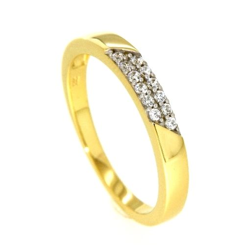 Ring Gold 333 Weite 64 Zirkonia