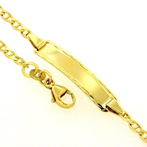 Identitäts-Armband Gold 333 14-12 cm
