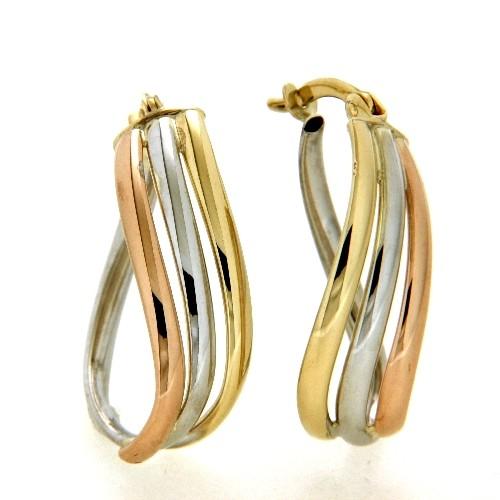 Creolen Gold 333 3-farbig