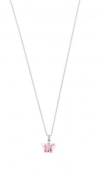 SCOUT Halskette rosa, silber Schmetterlinge 261105200