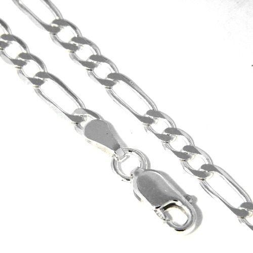 Figarokette (FP83) Silber 925 42 cm