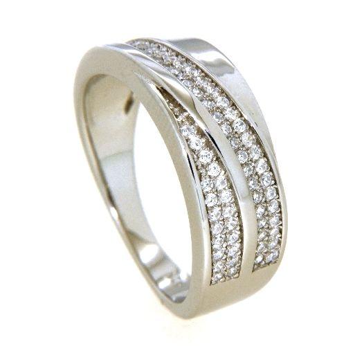 Ring Silber 925 rhodiniert Zirkonia Weite 62
