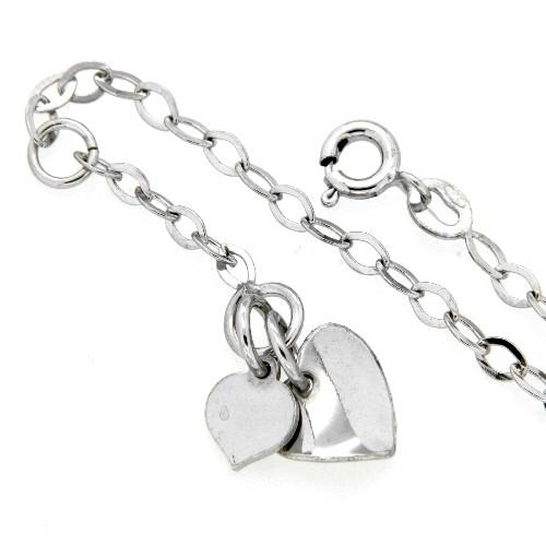 Fußkette Silber 925 rhodiniert 26-24 cm
