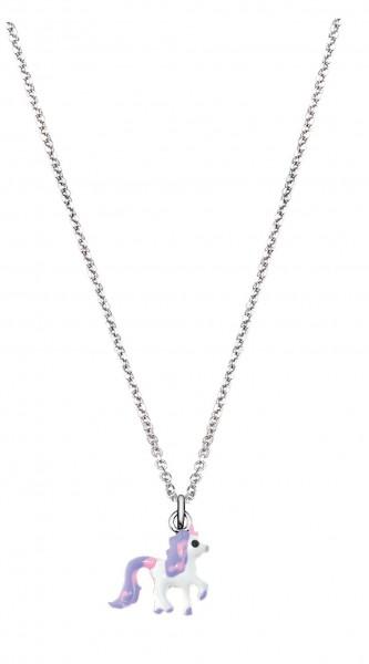 SCOUT Halskette weiß, flieder, pink Einhorn 261000005