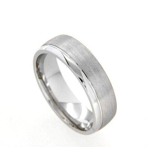 Freundschaftsring Silber 925 rhodiniert Breite 6 mm Weite 56