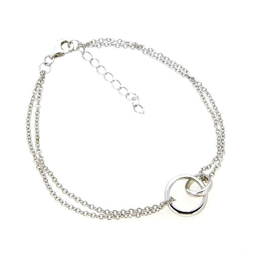 Armband Silber 925 rhodiniert 17+3 cm
