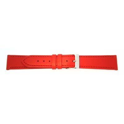Lederband 14mm rot Edelstahlschließe