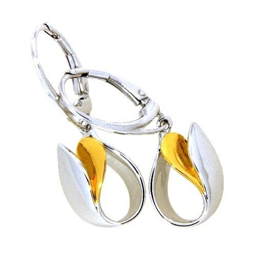 Ohrpendel Silber 925 rhodiniert und vergoldet
