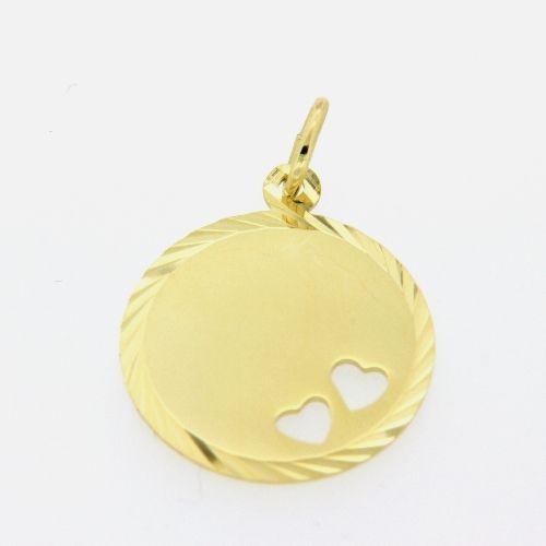 Gravurplatte Gold 333 rund 16,2mm