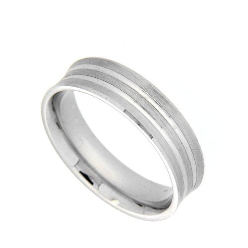 Freundschaftsring Silber 925 rhodiniert Breite 5,5 mm Weite 67
