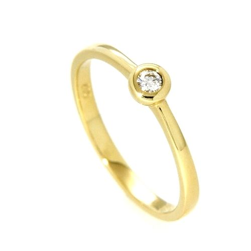 Ring Gold 585 Brillant 0,07 ct. Weite 53
