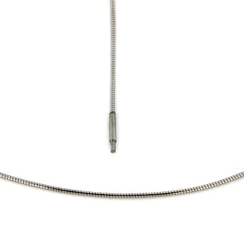 Omega Halsreifen Edelstahl 1,2 mm 45 cm