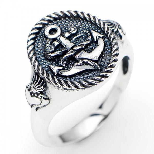 AMEN Ring Silber Anker Gr. 54 AAN-14