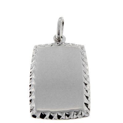 Gravurplatte Silber 925 rhodiniert