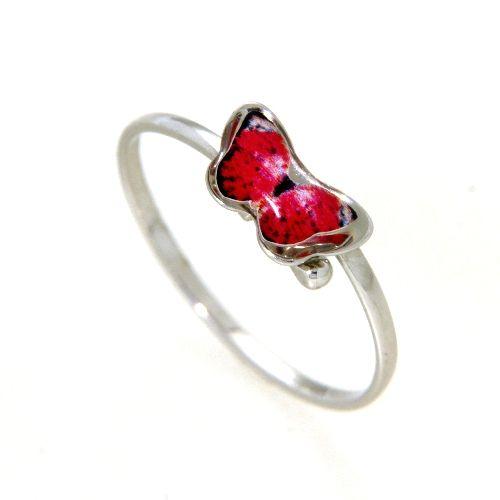 Ring Silber 925 rhodiniert Schmetterling Weite 46