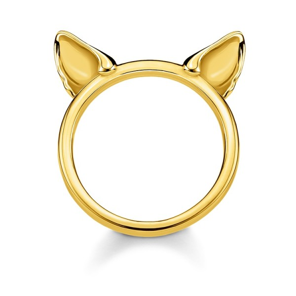 Thomas Sabo Ring Katzenohren vergoldet Größe 52 TR2260-413-39-52